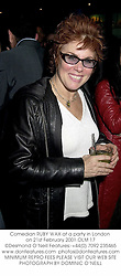 Comedian RUBY WAX at a party in London on 21st February 2001.OLM 17