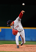 Boston relief pitcher Hideki Okajima during the game between the Atlanta Braves and the Boston Red Sox at Turner Field in Atlanta, GA on June 19, 2007..