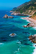 Rugged coastline on the Pacific, Big Sur, California USA