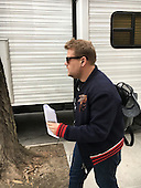 EXCLUSIVE First pictures of James Corden arriving to the set Oceans Eight