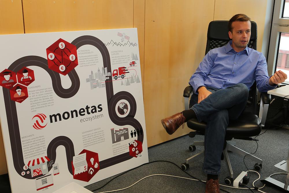 Graham Tonkin, Head of business development, Montas, at the Monetas office in Zug, Switzerland.