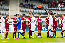Players during football match between NK Triglav Kranj and NK Rudar Velenje in Round #27 of Prva Liga Telekom Slovenije 2017/18, on April 15, 2018 in Sports park Kranj, Kranj, Slovenia. Photo by Ziga Zupan / Sportida
