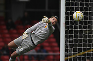Picture by David Horn/Focus Images Ltd +44 7545 970036.09/03/2013.Jonathan Bond (GK) of Watford saves to prevent Blackpool equalising  during the npower Championship match at Vicarage Road, Watford.