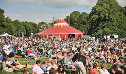Music fans at the Westport Festival bask in the sunshine while enjoying the live performances.<br /> Pic Conor McKeown