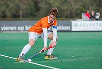 BLOEMENDAAL - aanvoerder Joppe van Liebergen (Bldaal)  tijdens de  competitiewedstrijd hockey jongens B , Bloemendaal JB1-Breda JB1 (3-2)  , COPYRIGHT KOEN SUYK