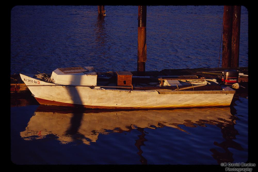 Small Boat Reflection, Seabright, NJ
