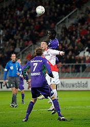 14-04-2010 VOETBAL: FC UTRECHT - FC GRONINGEN: UTRECHT<br /> Ricky van Wolfswinkel en Gibril Sankoh<br /> ©2010-WWW.FOTOHOOGENDOORN.NL