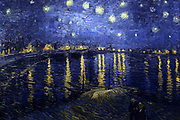 Starry Night Over the Rhone (September 1888) by Vincent Willem van Gogh (30 March 1853 – 29 July 1890), Dutch post-Impressionist painter