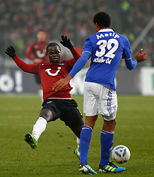 06.11.2011, AWD-Arena, Hannover, GER, 1.FBL, Hannover 96 vs FC Schalke 04, im Bild  Didier Ya Konan (Hannover #11) wird von  Joel Matip (Schalke #32) gestoppt .// during the match from GER, 1.FBL, Hannover 96 vs  FC Schalke 04 on 2011/11/06, AWD-Arena, Hannover, Germany. .EXPA Pictures © 2011, PhotoCredit: EXPA/ nph/  Schrader       ****** out of GER / CRO  / BEL ******