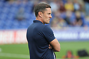 Shrewsbury Town manager Paul Hurst looking onto the pitch during the EFL Sky Bet League 1 match between AFC Wimbledon and Shrewsbury Town at the Cherry Red Records Stadium, Kingston, England on 12 August 2017. Photo by Matthew Redman.