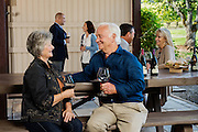 A retired couple Wine Tasting at The Four Graces Winery in Dundee, Oregon