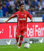 17. September 2011: Berlin, Olympiastadion: Fussball 1. Bundesliga, 6. Spieltag: Hertha BSC - FC Augsburg: Augsburgs Akaki Gogia am Ball.