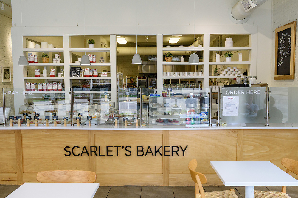 Scarlet's Bakery, 741 E. Oak, at the corner of Oak and Shelby Streets in the Smoketown neighborhood. April 18, 2018
