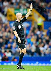 Referee Anthony Taylor gestures - Mandatory byline: Matt McNulty/JMP - 07966386802 - 23/08/2015 - FOOTBALL - Goodison Park -Everton,England - Everton v Manchester City - Barclays Premier League