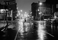 Street scene at night, 9th Avenue at W 39th Street. 1993