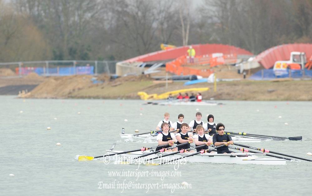 Eton. Great Britain,  J15, 4X,  Hampton Boys School, at the 2010 OARSport Junior Sculling Head. [Scullery], Eton Rowing Centre, Dorney Lake, Berkshire, England,  12  - 12/03/2010  -  [Mandatory Credit. Peter Spurrier/Intersport Images]