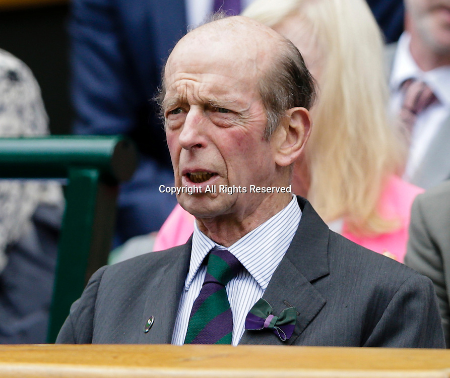 29.06.2015.  Wimbledon, England. The Wimbledon Tennis Championships. Gentlemen's Singles first round match between top seed Novak Djokovic (SRB) & Philipp Kohlschreiber (GER).  Prince Edward, Duke of Kent watches the action from the Royal Box