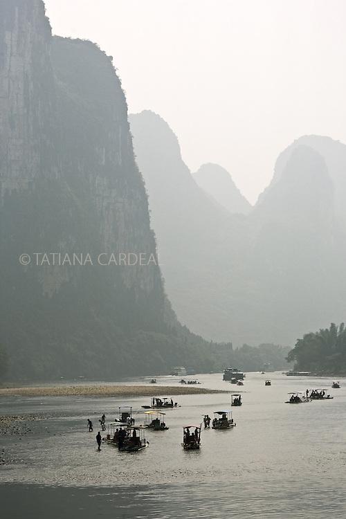 Li River landscape, at Guangxi Province.