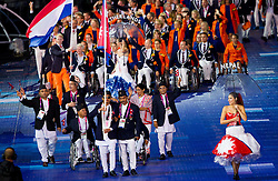 Team Nepal during Opening ceremony during Day 1 of Summer Paralympic Games London 2012 on August 29, 2012, in Olympic stadium, London, Great Britain. (Photo by Vid Ponikvar / Sportida.com)