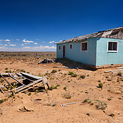 Abandoned Chaco Reservation House - New Mexico