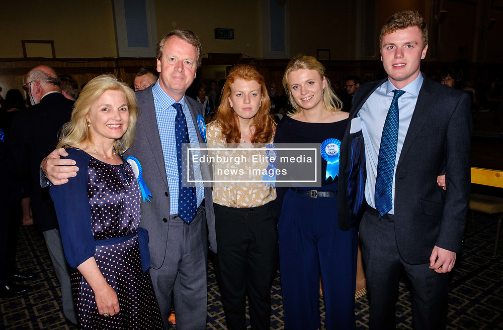 General Election 2017 Dumfries Count :: Alister Jack, Conservative candidate Dumfries and Galloway at the count<br /> <br /> (c) Andrew Wilson | Edinburgh Elite media