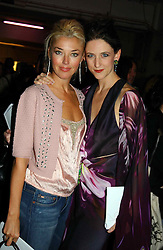 Left to right, TAMARA BECKWITH and Fashion designer MARIA GRACHVOGEL at Fashion Fringe - part of London fashion week held at the Selfridges Car Park, off Oxford Street, London on 22nd September 2004.<br />