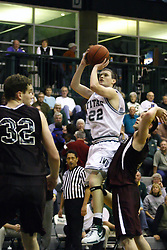16 December 2006: Andrew Gilmore gets open for a shot. The University of Chicago Maroons upset  the Illinois Wesleyan Titans 64 - 60 at the Shirk Center in Bloomington Illinois.<br />