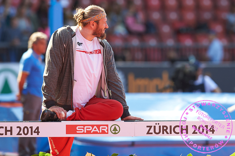 during the First Day of the European Athletics Championships Zurich 2014 at Letzigrund Stadium in Zurich, Switzerland.<br /> <br /> Switzerland, Zurich, August 12, 2014<br /> <br /> Picture also available in RAW (NEF) or TIFF format on special request.<br /> <br /> For editorial use only. Any commercial or promotional use requires permission.<br /> <br /> Photo by &copy; Adam Nurkiewicz / Mediasport