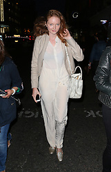 Model Lily Cole out and about in Leicester Square, London, UK. 01/10/2014<br />