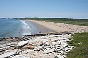 Reid State Park beach in Georgetown, Maine.