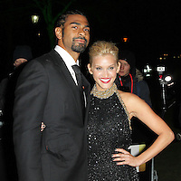 LONDON - DECEMBER 06: David Haye; Ashley Roberts attended 'A Night of Heroes: The Sun Military Awards' at the Imperial War Museum, London, UK. December 06, 2012. (Photo by Richard Goldschmidt)