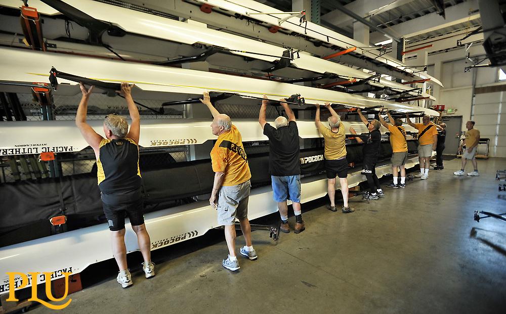 PLU's rowing crews reunion at American Lake.   Photos by Russ Carmack