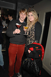 HARRY GRENFELL and COCO FENNELL at a party hosted by Kitts nightclub in honour of Ed Godrich to than him for his work on designing the club in Sloane Square, London on 1st March 2007.<br />