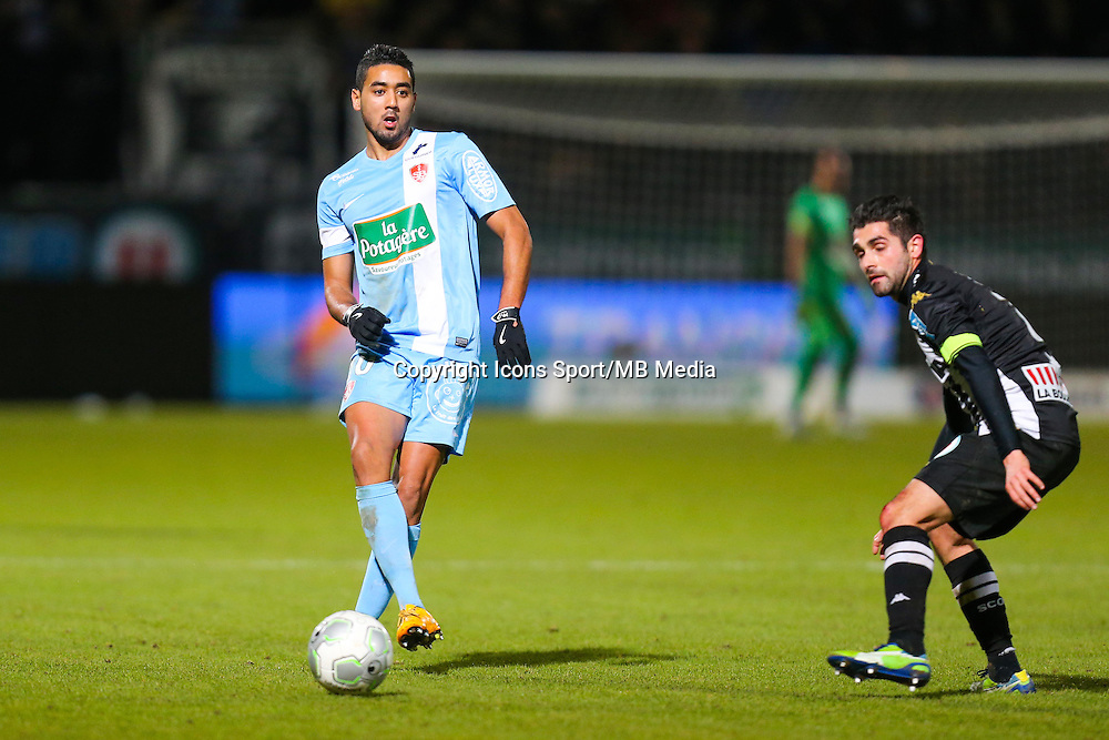 Chahir BELGHAZOUANI  - 26.01.2015 - Angers / Brest - 21eme journee de Ligue 2 -<br /> Photo : Vincent Michel / Icon Sport