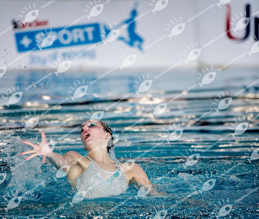 GANDINI Maria Elena, CS PLEBISCITO PADOVA<br /> Campionato Italiano Assoluto Invernale Nuoto Sincronizzato<br /> Solo Libero Finale<br /> Centro Sportivo Roero - Cuneo<br /> Day02  20 Mar.2016<br /> Photo L.Salvemini/Insidefoto/Deepbluemedia