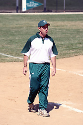 05 April 2008: Coach Steve King. The Carthage College Lady Reds lost the first game of this double header to the Titans of Illinois Wesleyan 4-1 at Illinois Wesleyan in Bloomington, IL