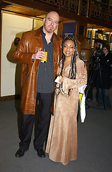 Singer DEBBIE SKEETE and her husband NEIL PYZER-SKEETE at a party to celebrate the publication of Treasure Islands - Britain's History Uncovered by Bill Wyman and Richard Havers held at The British Museum, London on 21st March 2005.<br />