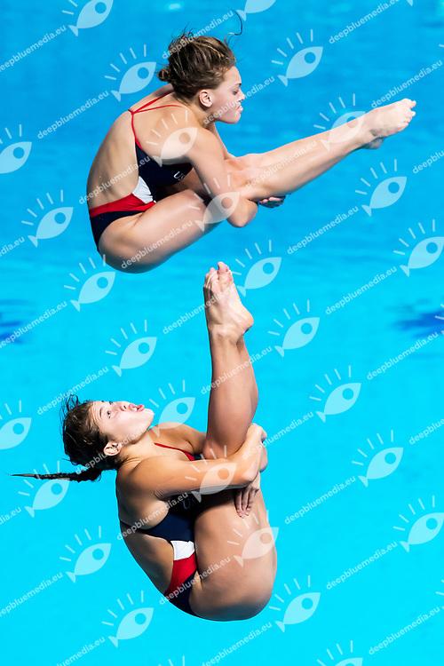 COBURN Maria GIBSON Alison USA <br /> Women's 3m Synchro springboard Final <br /> diving <br /> 17/07/2017 <br /> XVII FINA World Championships Aquatics<br /> Duna Arena Budapest Hungary <br /> Photo Andrea Staccioli/Deepbluemedia/Insidefoto