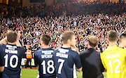 Giorgi Nemsadze and current Dundee pliers applaud the Dundee support - Crystal Palace v Dundee - Julian Speroni testimonial match at Selhurst Park<br /> <br />  - © David Young - www.davidyoungphoto.co.uk - email: davidyoungphoto@gmail.com