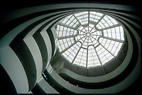 Spiral design of the Guggenheim Museum in New York.