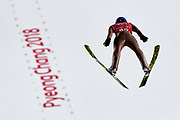 South Korea, PyeongChang - 2018 February 14: Kamil Stoch from Poland while Ski Jumping Men's Large Hill Individual Official Training during The 2018 PyeongChang Olympic Winter Games at Alpensia Ski Jumping Centre on February 14, 2018 in PyeongChang, South Korea.<br /> <br /> Mandatory credit:<br /> Photo by &copy; Adam Nurkiewicz<br /> <br /> Adam Nurkiewicz declares that he has no rights to the image of people at the photographs of his authorship.<br /> <br /> Picture also available in RAW (NEF) or TIFF format on special request.<br /> <br /> Any editorial, commercial or promotional use requires written permission from the author of image.