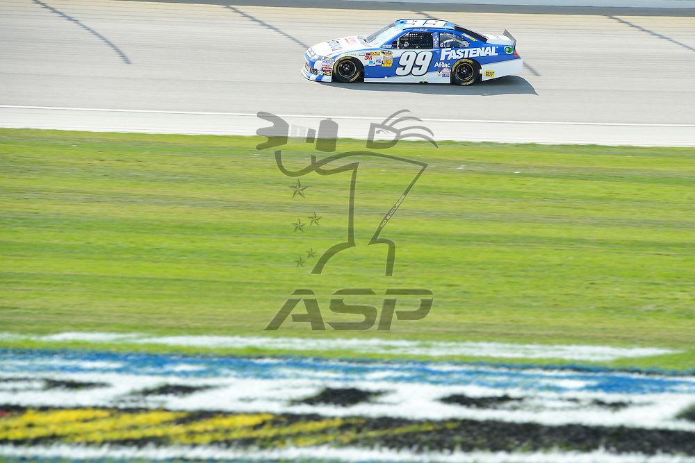 Joliet, IL - SEP 16, 2012: Carl Edwards (99) during the Geico 400 at the Chicagoland Speedway in Joliet, IL.