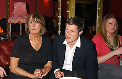 LADY ANNABEL GOLDSMITH and her son ZAC GOLDSMITH at the opening party for a new bowling alley All Star Lanes, at Victoria House, Bloomsbury Place, London on 19th January 2006.<br />