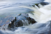 Closeup view of a portion of Dog Falls on the River Affric in the Scottish Highlands.