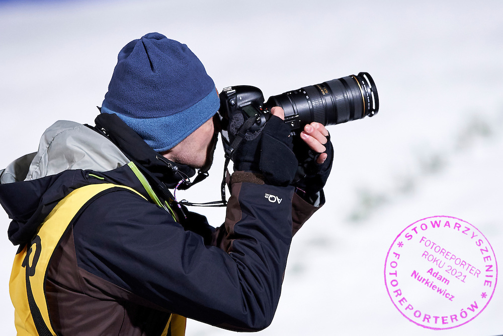 Photographer Adam Jagielak (Getty Images / Gallo Images Agency) shoots pictures  during FIS World Cup Ski Jumping competition in Zakopane, Poland on January 17, 2015.<br /> <br /> Poland, Zakopane, January 17, 2015.<br /> <br /> Picture also available in RAW (NEF) or TIFF format on special request.<br /> <br /> For editorial use only. Any commercial or promotional use requires permission.<br /> <br /> Mandatory credit:<br /> Photo by &copy; Adam Nurkiewicz / Mediasport