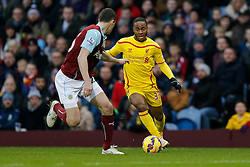 Raheem Sterling of Liverpool in action - Photo mandatory by-line: Rogan Thomson/JMP - 07966 386802 - 26/12/2014 - SPORT - FOOTBALL - Burnley, England - Turf Moor Stadium - Burnley v Liverpool - Boxing Day Christmas Football - Barclays Premier League.