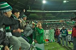 10.12.2011, Weser Stadion, Bremen, GER, 1.FBL, Werder Bremen vs VfL Wolfsburg, im Bild Marko Arnautovic (Bremen #7) am Megafon mit Fans in der Ostkurve // during the match GER, 1.FBL, Werder Bremen vs VfL Wolfsburg on 2011/12/10, 16th matchday, Weser Stadion, Bremen, Germany. EXPA Pictures © 2011, PhotoCredit: EXPA/ nph/ Gumz..***** ATTENTION - OUT OF GER, CRO *****