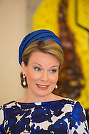 The Hague, 20-05-2015 <br /> <br /> QueenMathilde visited the Belgium Embassadors Residence.<br /> <br />  Photo:Royalportraits Europe/Bernard Ruebsamen