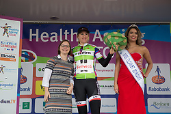 Ellen van Dijk (NED) of Team Sunweb retains the green jersey as the leader of the Points Classification after Stage 4 of the Healthy Ageing Tour - a 126.6 km road race, starting and finishing in Finsterwolde on April 8, 2017, in Groeningen, Netherlands.