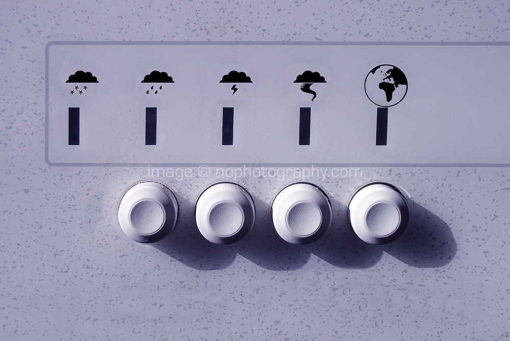 Washing machine buttons with climate symbols added